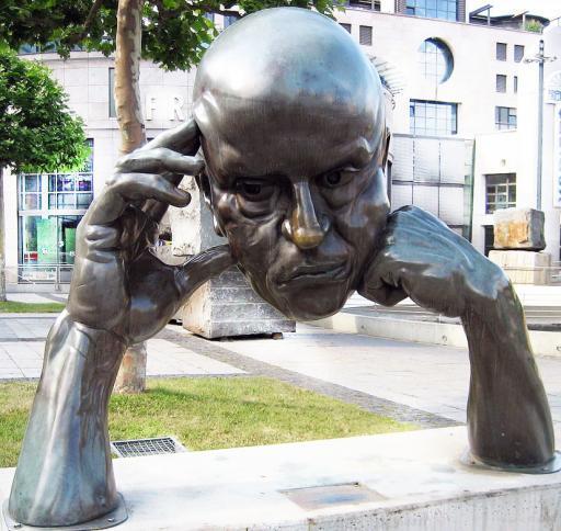Denkende in Stuttgart, Prostatakrebs und die Psyche